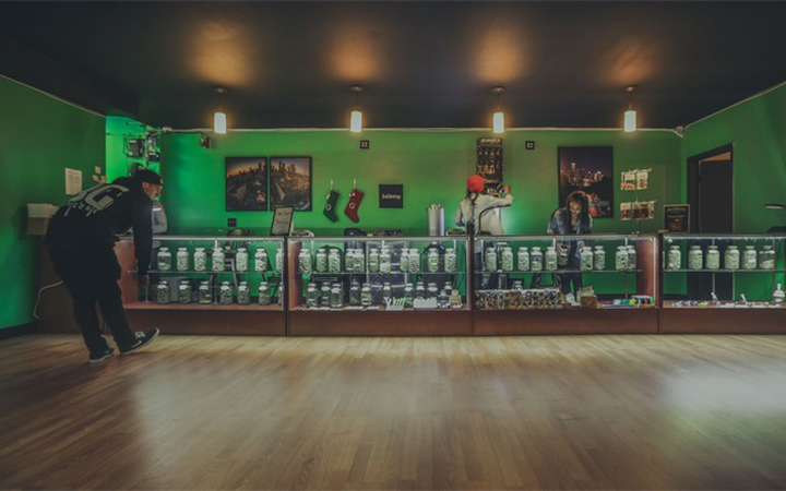 Mr. Natural's medical marijuana dispensary in Los Angeles, California