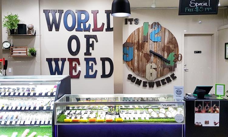 World of Weed recreational cannabis dispensary in Tacoma, Washington