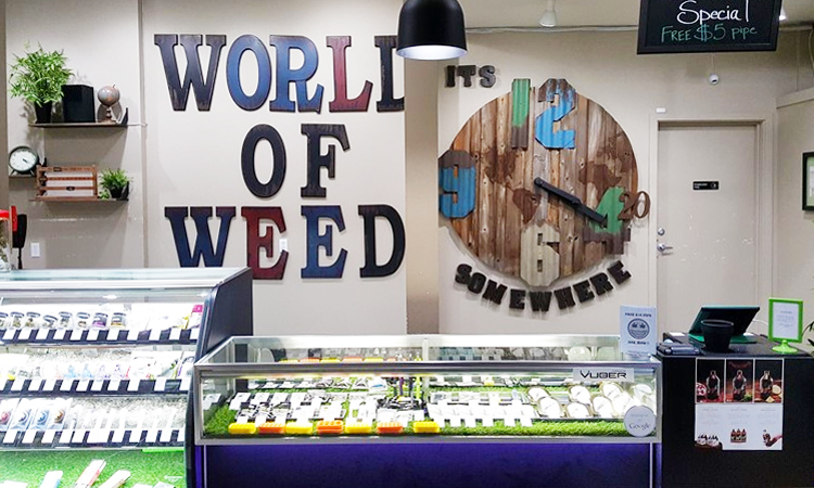 World of Weed medical marijuana and recreational cannabis dispensary in Tacoma, Washington