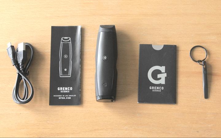 The contents of the G-Pen Elite Vaporizer