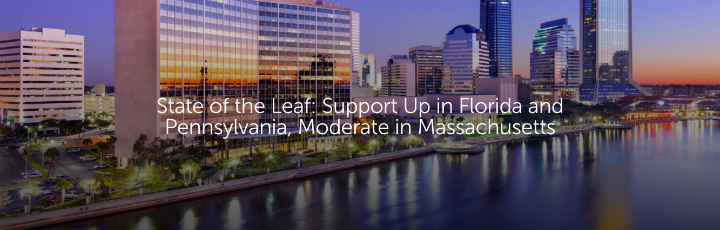 State of the Leaf: Support Up in Florida and Pennsylvania, Moderate in Massachusetts