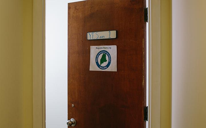 The Portland, Maine, headquarters for the Regulate Marijuana Like Alcohol campaign. Photo by Tristan Spinski