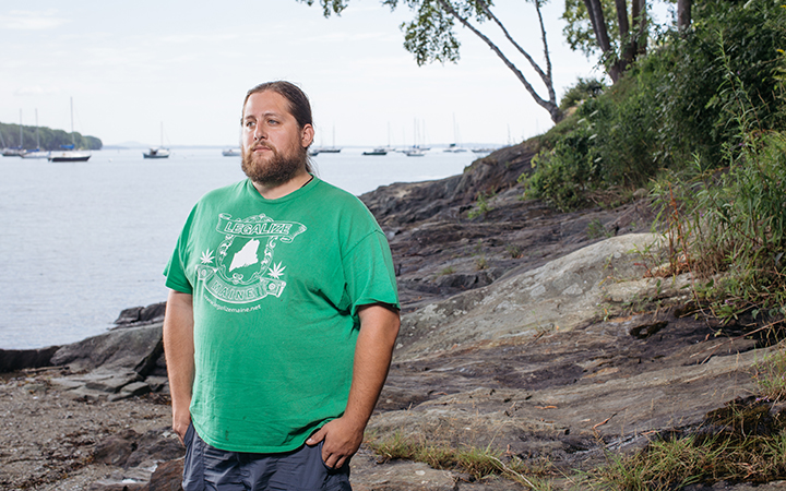 Paul McCarrier, president of Legalize Maine and co-author of the Act to Legalize Marijuana. Photo by Tristan Spinski