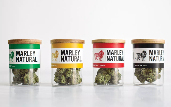 Marley Natural Red, Green, Gold and Black Cannabis Strains