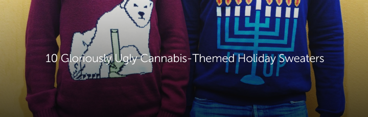 10 Gloriously Ugly Cannabis-Themed Holiday Sweaters