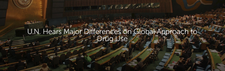 U.N. Hears Major Differences on Global Approach to Drug Use