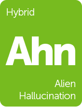 Leafly Alien Hallucination cannabis strain tile