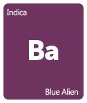 Leafly Blue Alien cannabis strain tile