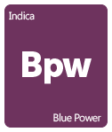 Leafly Blue Power cannabis strain tile