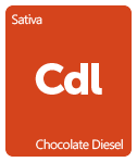 Leafly Chocolate Diesel cannabis strain tile