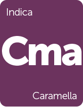 Leafly Caramella cannabis strain tile