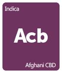 Leafly Afghani CBD cannabis strain tile