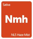 Leafly NL5 Haze Mist cannabis strain tile