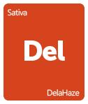 Leafly DelaHaze cannabis strain tile