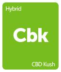 Leafly CBD Kush cannabis strain tile