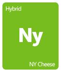 Leafly NY Cheese cannabis strain tile
