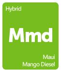 Leafly Maui Mango Diesel cannabis strain tile