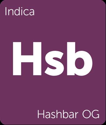 Leafly Hashbar OG indica cannabis strain tile