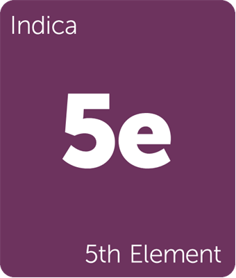 Leafly 5th Element indica cannabis strain tile