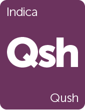 Leafly Qush cannabis strain tile