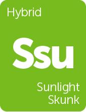 Leafly Sunlight Skunk cannabis strain tile