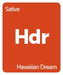 Leafly Hawaiian Dream cannabis strain tile