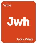 Leafly Jacky White cannabis strain tile