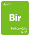 Leafly Birthday Cake Kush cannabis strain tile