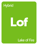 Leafly Lake of Fire cannabis strain tile