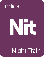 Leafly Night Train cannabis strain tile