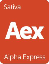 Leafly Alpha Express cannabis strain tile
