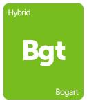 Leafly Bogart cannabis strain tile