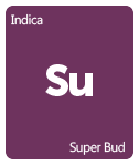 Leafly Super Bud cannabis strain tile