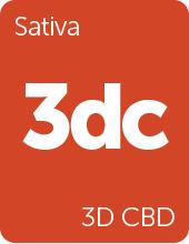 Leafly 3D CBD cannabis strain tile