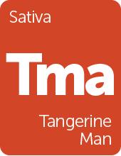 Leafly Tangerine Man cannabis strain tile