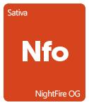 Leafly NightFire OG cannabis strain tile