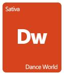 Leafly Dance World cannabis strain tile