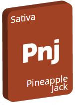 Leafly Pineapple Jack cannabis strain tile