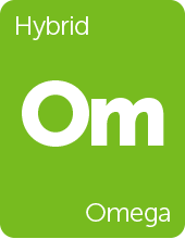 Leafly Omega cannabis strain tile