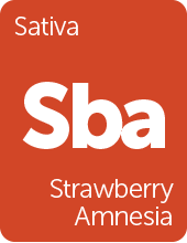 Leafly Strawberry Amnesia cannabis strain tile