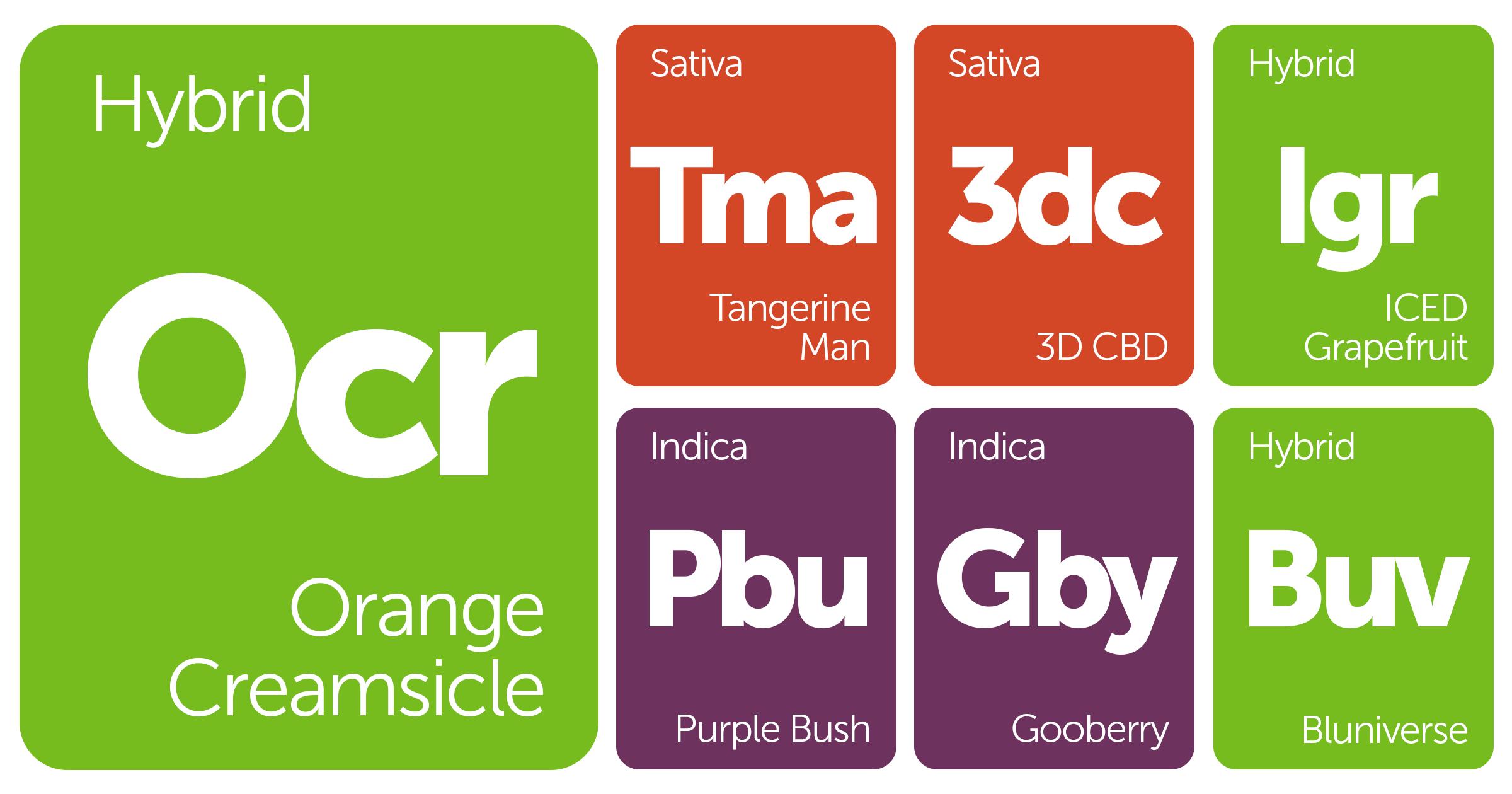 New Strains Alert: Orange Creamsicle, Bluniverse, ICED Grapefruit, 3D CBD, and More
