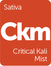 Leafly Critical Kali Mist cannabis strain tile