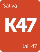 Leafly Kali 47 cannabis strain tile
