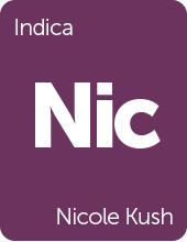 Leafly Nicole Kush cannabis strain tile