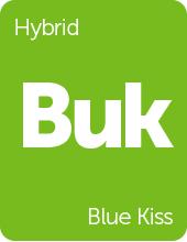 Leafly Blue Kiss hybrid cannabis strain tile