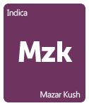Leafly Mazar Kush cannabis strain tile