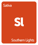 Leafly Southern Lights cannabis strain tile