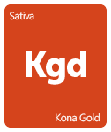 Leafly Kona Gold cannabis strain tile