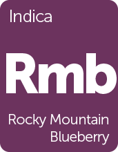 Leafly Rocky Mountain Blueberry cannabis strain tile