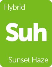Leafly Sunset Haze cannabis strain tile